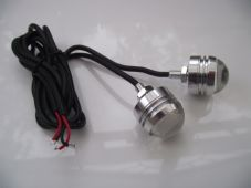 Button LED bolts superbright 3w red leds, CNC silver case LED rear lights x2